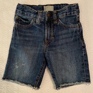 Baby Gap Dark Washed Denim Jean Shorts Cutoffs 2T